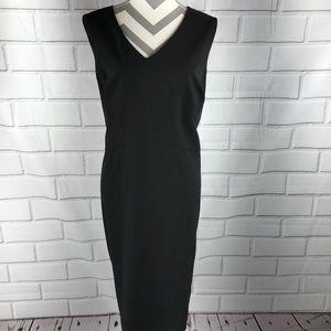 Tahari sz 16W black v-neck sheath dress